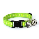 Green Heart Print Collar