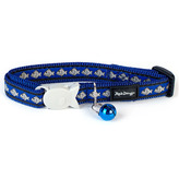 Blue Reflective Cat Collar