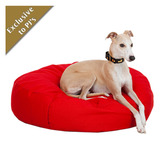 Red Denim Beanbag