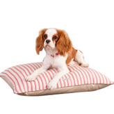 Organic Ticking Dog Bed