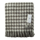 Houndstooth Wool Throw