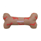 Red Dachshund Linen Bone