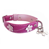 Lucy Dog Collar in Pink
