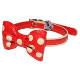 Polka Dot Collar With Bow