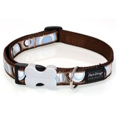 Brown Circadelic Dog Collar