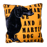 Sausage Dog Graphic Cushion