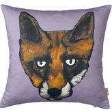 Lisa Bliss Fox Head Cushion