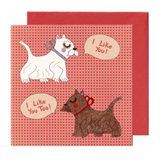 Scottie and Westie Card
